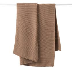 Buy Purl knit wool throw walnut in NZ New Zealand.