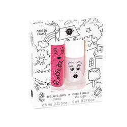 Kids lip gloss & nail polish duo