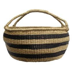 Buy Large slouchy striped basket in NZ New Zealand.