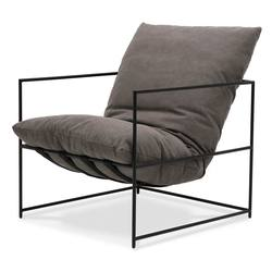 Buy Lauro club chair charcoal in NZ New Zealand.
