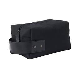 Leather and nylon wash bag