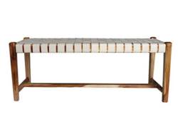 Buy Woven leather bench seat in NZ New Zealand.
