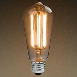 LED filament teardrop bulb