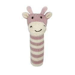 Ellie giraffe fabric rattle
