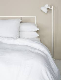Linen duvet cover white