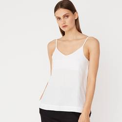 Assembly Label linen slip top white