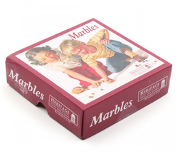 Retro box of marbles