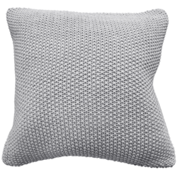 Moss stitch cushion cover grey