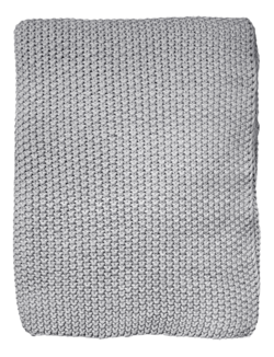 Buy Moss stitch throw grey in NZ New Zealand.