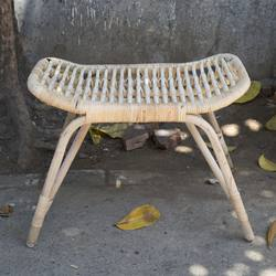 Natural curved stool