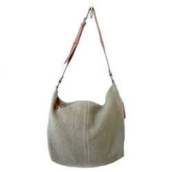Juju & Co jute slouchy bag khaki
