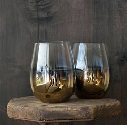 Buy Gold foil stemless glass in NZ New Zealand.