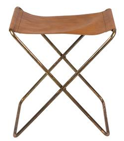 Buy Leather folding stool in NZ New Zealand.