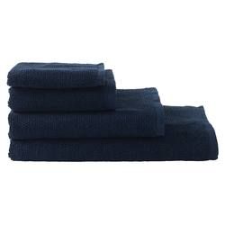 Organic cotton towel range navy
