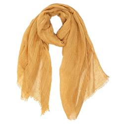 Buy Linen oversized scarf mustard in NZ New Zealand.
