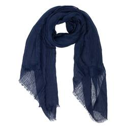 Buy Linen oversized scarf navy in NZ New Zealand.