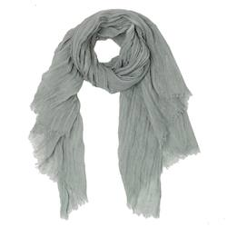 Buy Linen oversized scarf steel in NZ New Zealand.