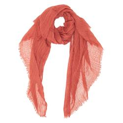 Buy Linen oversized scarf terracotta in NZ New Zealand.