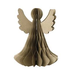 Buy Standing paper angel with gold finish in NZ New Zealand.