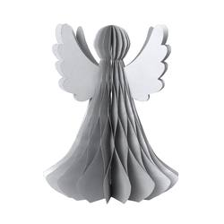 Buy Standing paper angel with silver finish in NZ New Zealand.
