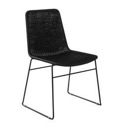 Buy Bistro rattan dining chair black in NZ New Zealand.