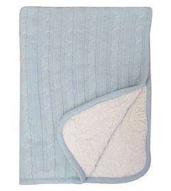 Buy Plush fleece baby blanket blue in NZ New Zealand.