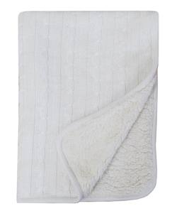 Buy Plush fleece baby blanket white in NZ New Zealand.