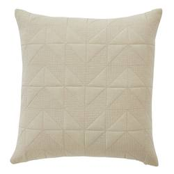 Prado quilted linen cotton cushion cover