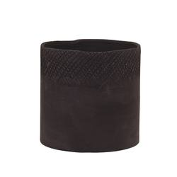 Scowle textured planter black
