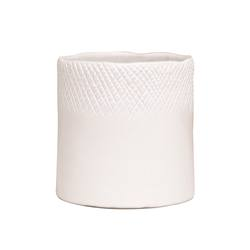Scowle textured planter white