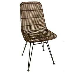 Rattan dining chair espresso