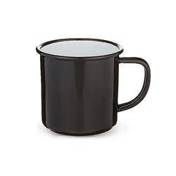 Buy Black enamel mug in NZ New Zealand.