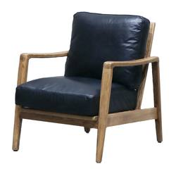 Buy Reid leather armchair black in NZ New Zealand.