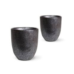 Buy Earth cups black set of 2 in NZ New Zealand.