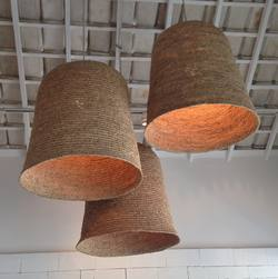 Large rice husk lamp shade