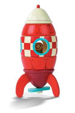 Buy Magnetic wooden toy rocket in NZ New Zealand.