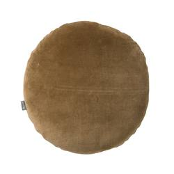 Round cotton velvet cushion cover