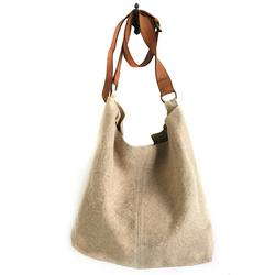 JuJu & Co jute slouchy bag natural