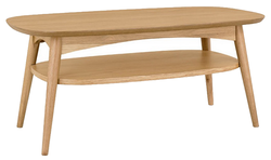 Scandi style coffee table with shelf