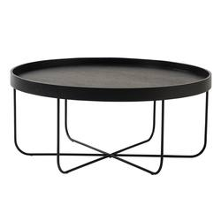 Segment plywood coffee table black
