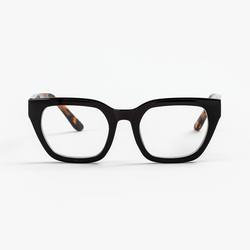 Buy Ava black reading glass with tortoise shell arms in NZ New Zealand.
