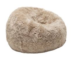 Shaggy long wool sheepskin bean bag (filled)