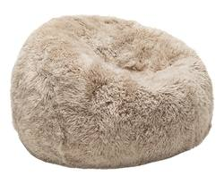 Shaggy NZ wool sheepskin bean bag (filled)