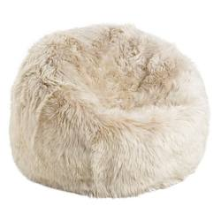 Buy Shaggy long wool sheepskin bean bag (filled) in NZ New Zealand.