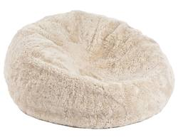 Short NZ wool sheepskin bean bag (filled)