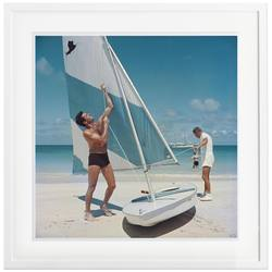 Buy Slim Aarons 'Boating in Antigua' framed print in NZ New Zealand.