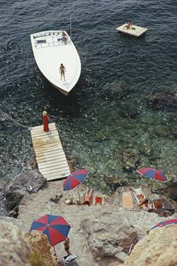 Slim Aarons 'Coming Ashore' photographic print