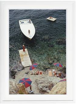 Buy Slim Aarons 'Coming Ashore' framed print in NZ New Zealand.