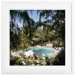 Slim Aarons 'Eleuthera Pool Party' framed print