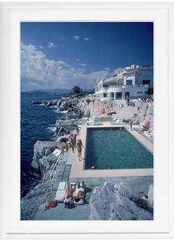 Buy Slim Aarons 'Hotel Du Cap Eden-Roc by pool' framed print in NZ New Zealand.
